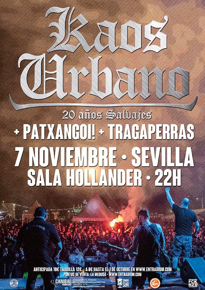 Kaos urbano vuelve a sevilla el 7 de noviembre en la sala for Sala hollander
